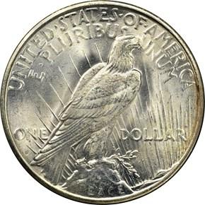1922 S S$1 MS reverse