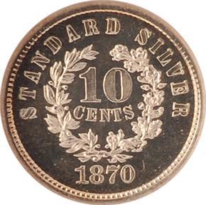 1870 J-856 10C PF reverse