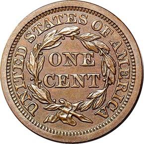 1856 LARGE 1C PF reverse