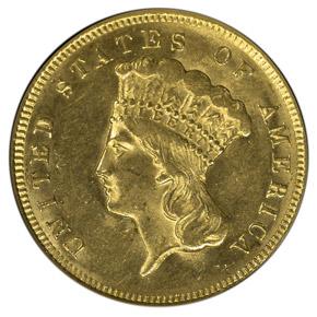 1874 $3 MS obverse