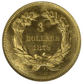 1879 $3 MS reverse