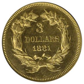 1881 $3 MS reverse