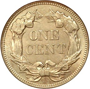 1858 LARGE LETTERS 1C MS reverse
