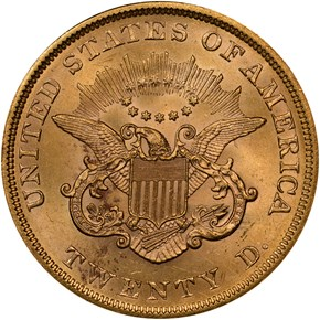 1852 $20 MS reverse