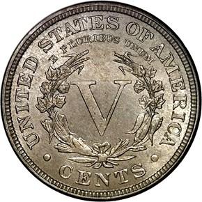 1883 CENTS 5C MS reverse