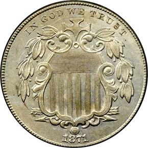 1871 5C MS obverse