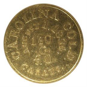 (1834-37) C.BECHTLER 140G, DISTANT 20C $5 MS obverse