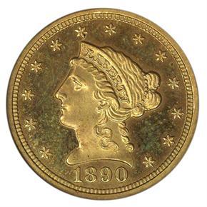 1890 $2.5 PF obverse