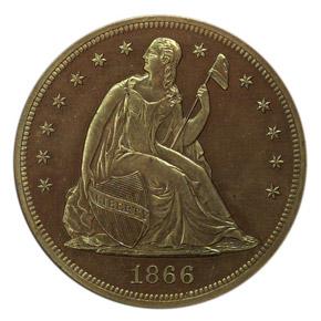 1866 J-541 S$1 PF obverse