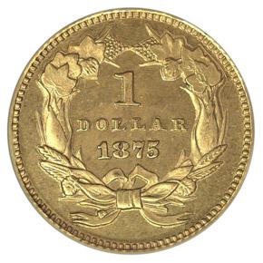 1875 J-1432 GILT G$1 PF reverse