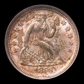 1858 O 10C MS obverse