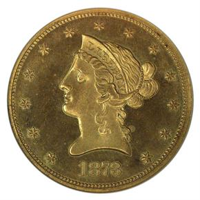 1873 CLOSED 3 $10 PF obverse