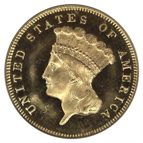1874 $3 PF obverse