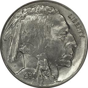 1934 5C MS obverse