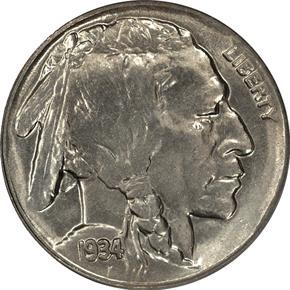 1934 D 5C MS obverse