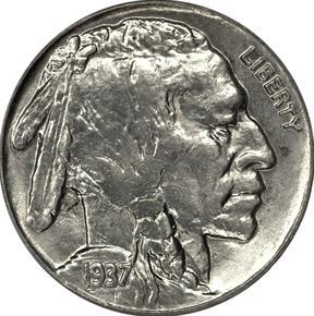 1937 5C MS obverse