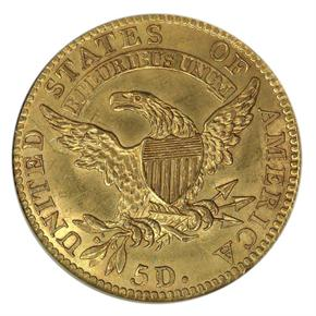 1819 $5 MS reverse