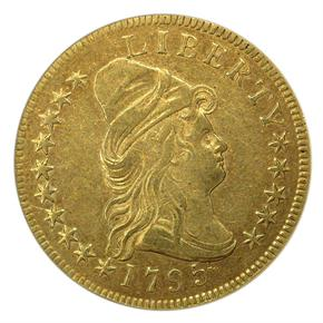 1795 9 LEAVES $10 MS obverse
