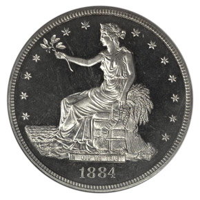 1884 T$1 PF obverse