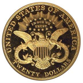 1907 LIBERTY $20 PF reverse
