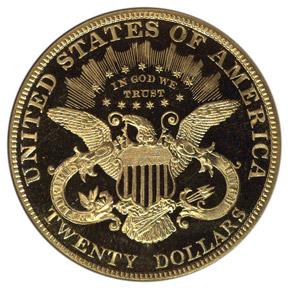 1906 D $20 MS reverse
