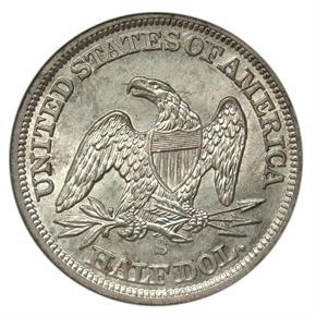 1856 S 50C MS reverse