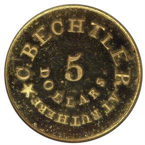 (NO DATE) C.BECHTLER RESTRIKE $5 PF reverse