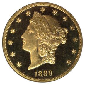 1888 $20 PF obverse