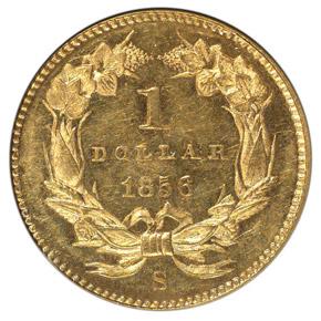 1856 S G$1 MS reverse