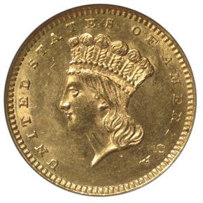 1863 G$1 MS obverse