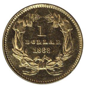 1868 G$1 MS reverse