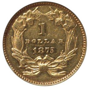 1875 G$1 MS reverse