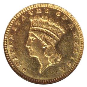 1884 G$1 MS obverse