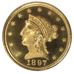 1897 $2.5 PF obverse