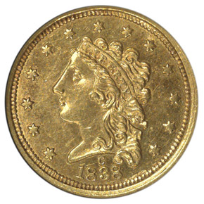 1838 C $2.5 MS obverse