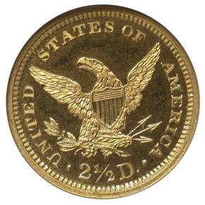 1864 $2.5 PF reverse