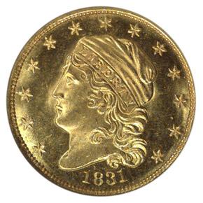 1831 $2.5 MS obverse