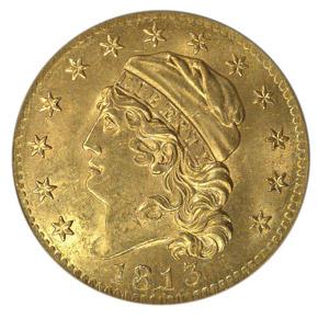 1813 $5 MS obverse