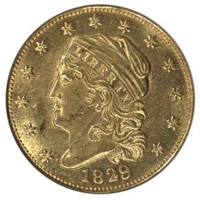 1829 $2.5 MS obverse
