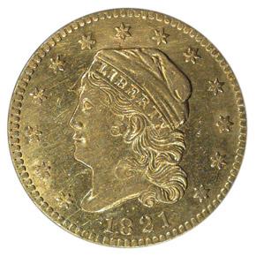 1821 $2.5 MS obverse