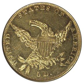 1834 PLAIN 4 CLASSIC $5 MS reverse
