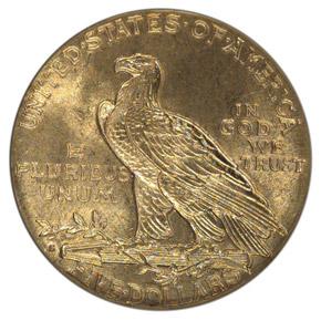 1908 S $5 MS reverse
