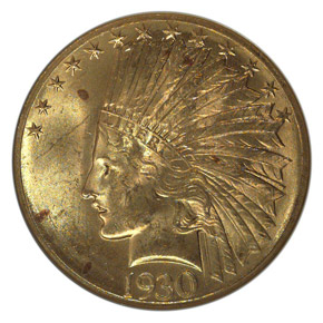 1930 S $10 MS obverse