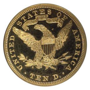 1901 $10 PF reverse