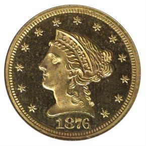 1876 $2.5 PF obverse