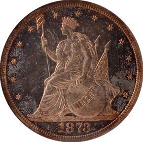 1873 J-1310 T$1 PF obverse