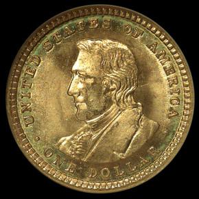 1904 LEWIS & CLARK G$1 MS reverse