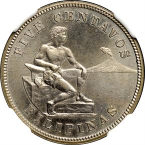1903 USA-PHIL 5C PF obverse