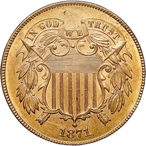 1871 2C MS obverse
