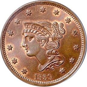 1839 PETITE HEAD N-8 1C MS obverse